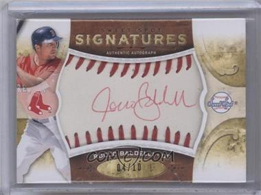 2009 Sweet Spot Signatures White Ball Red Stitch Red Ink #S-RB - Rocco Baldelli /10