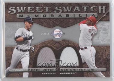 2009 Sweet Spot Sweet Swatch Memorabilia Dual #DS-GJ - Derek Jeter, Ken Griffey Jr.