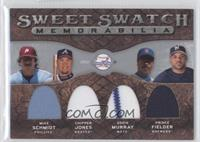 Prince Fielder, Mike Schmidt, Chipper Jones, Eddie Murray