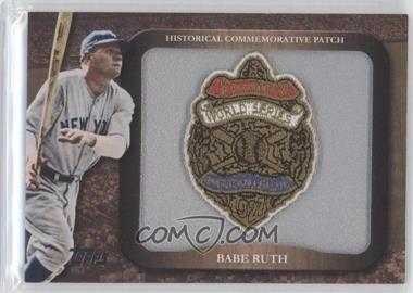 2009 Topps - Legends of the Game Manufactured Commemorative Patch #LPR-2 - Babe Ruth