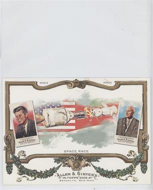 2009 Topps Allen & Ginter's Box Topper Cabinet #CB 10 - John F. Kennedy, Nikita Khrushchev