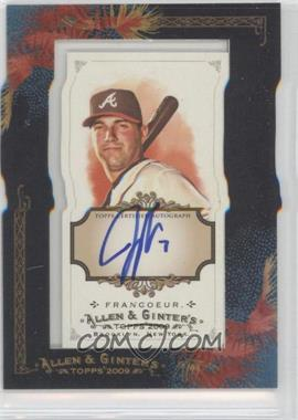 2009 Topps Allen & Ginter's Framed Mini Autographs [Autographed] #AGA-JF - Jeff Francoeur
