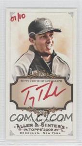 2009 Topps Allen & Ginter's Framed Mini Autographs Red Ink [Autographed] Unframed #AGA-TT - Troy Tulowitzki /10