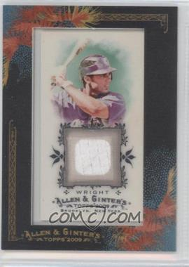 2009 Topps Allen & Ginter's Framed Mini Relics #AGR-DAW - David Wright