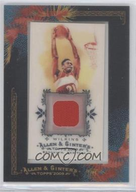 2009 Topps Allen & Ginter's Framed Mini Relics #AGR-DDW - Dominique Wilkins