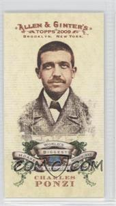2009 Topps Allen & Ginter's World's Biggest Hoaxes, Hoodwinks and Bamboozles Minis #HHB1 - Charles Ponzi