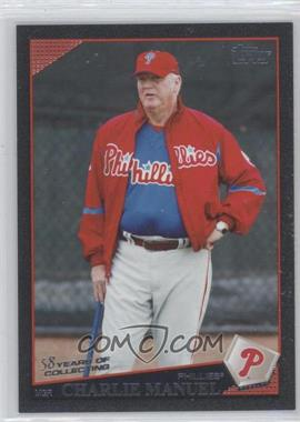 2009 Topps Black 58 Years of Collecting #496 - Charlie Manuel /58