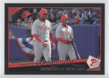 2009 Topps Black #601 - Ryan Howard, Jimmy Rollins /58