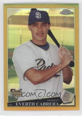 2009 Topps Chrome - [Base] - Gold Refractor #185 - Everth Cabrera /50