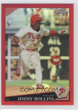 2009 Topps Chrome - [Base] - Red Refractor #144 - Jimmy Rollins /25