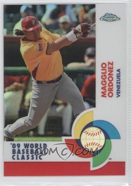 2009 Topps Chrome - World Baseball Classic - Red Refractor #W75 - Magglio Ordonez /25