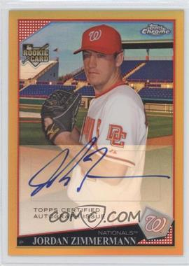 2009 Topps Chrome Gold Refractor #235 - Jordan Zimmermann /50