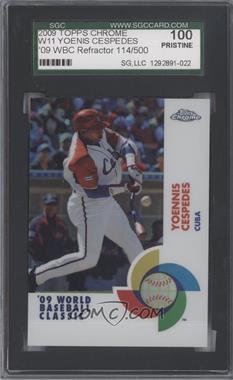 2009 Topps Chrome World Baseball Classic Refractor #W11 - Yoenis Cespedes /500 [SGC100]