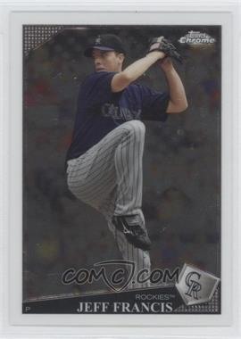 2009 Topps Chrome #105 - Jeff Francis
