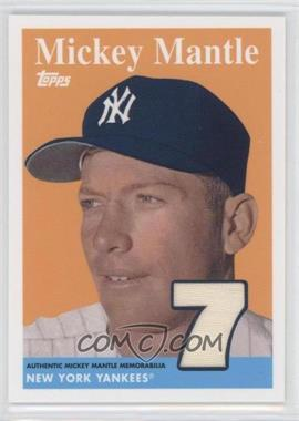 2009 Topps Factory Set Mickey Mantle Reprint Relics #MMR58 - Mickey Mantle