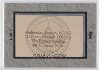 Jimmy Carter Inauguration 1977 #1/1
