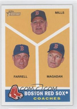 2009 Topps Heritage #456 - Boston Red Sox Coaches (Brad Mills, John Farrell, Dave Magadan)