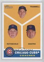 Chicago Cubs Coaches (Alan Trammell, Larry Rothschild, Matt Sinatro)