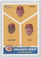 Cincinnati Reds Coaches (Chris Speier, Billy Hatcher, Dick Pole)