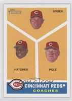 Cincinnati Reds Coaches (Chris Speier, Billy Hatcher, Dick Pole)