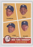 New York Yankees Coaches (Rob Thomson, Tony Pena, Kevin Long, Dave Eiland)