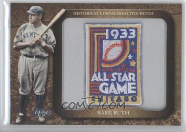 2009 Topps Legends of the Game Manufactured Commemorative Patch #LPR-60 - Babe Ruth