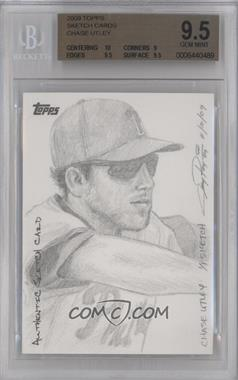 2009 Topps Sketch Cards #CHUT - Chase Utley /1 [BGS 9.5]