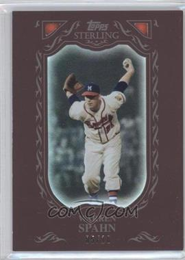 2009 Topps Sterling Burgundy #24 - Warren Spahn /10