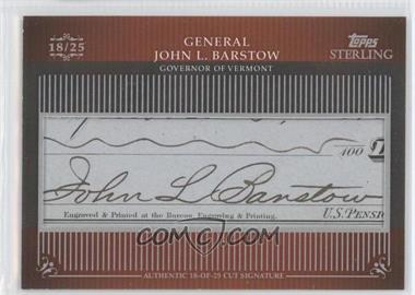 2009 Topps Sterling Cut Signatures #MPS-143 - General John L. Barstow