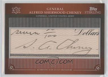 2009 Topps Sterling Cut Signatures #MPS-175 - Alfred Sherwood Cheney /25