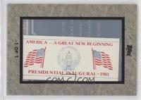 Ronald Reagan Inauguration 1981 /1