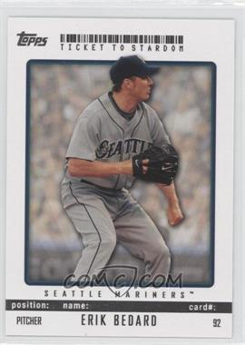 2009 Topps Ticket To Stardom #92 - Erik Bedard