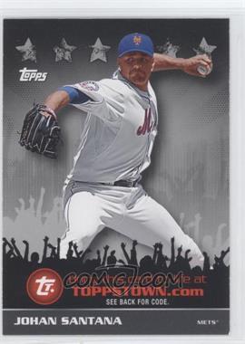 2009 Topps ToppsTown Redemption Code Cards #TTT6 - Johan Santana