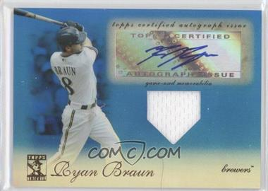 2009 Topps Tribute Autographed Relics Blue #TAR-RB4 - Ryan Braun /75