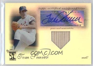 2009 Topps Tribute Autographed Relics #TAR-TS - Tom Seaver