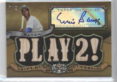 2009 Topps Triple Threads Autograph Relic Gold #TTAR-151 - Ernie Banks /9