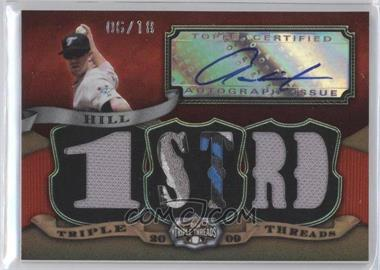 2009 Topps Triple Threads Autographed Relic #TTAR-170 - Aaron Hill /18