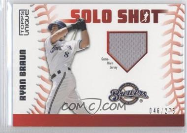2009 Topps Unique - Solo Shots - Relic #SSR-RB - Ryan Braun /275
