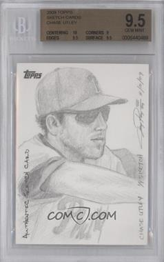 2009 Topps Updates & Highlights Sketch Cards #CHUT - Chase Utley /1 [BGS9.5]