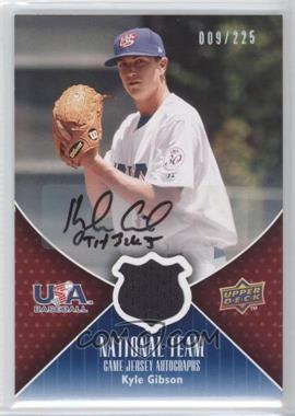 2009 Upper Deck - USA National Team - Game Jersey Autographs [Autographed] #USA-KG - Kyle Gibson /225