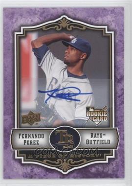 2009 Upper Deck A Piece of History - [Base] - Violet Autograph #143 - Fernando Perez