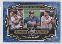 Chipper Jones, Yunel Escobar, Brian McCann /999