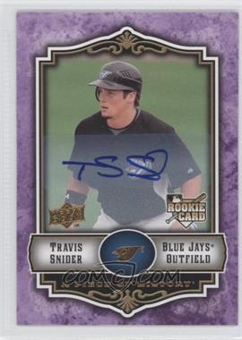 2009 Upper Deck A Piece of History Violet Autograph #134 - Travis Snider