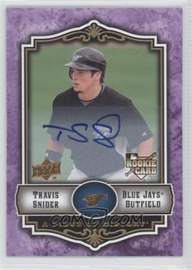 2009 Upper Deck A Piece of History Violet Autograph #134 - Travis Snider