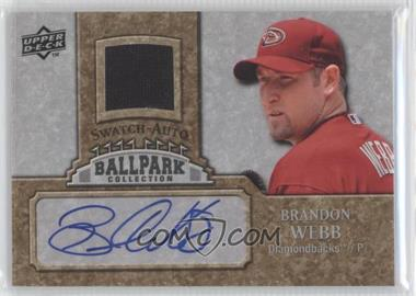2009 Upper Deck Ballpark Collection 1-Player Single Swatch Jersey Autographs [Autographed] #JA-BW - Brandon Webb