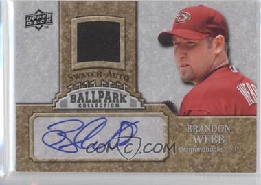 2009 Upper Deck Ballpark Collection 1-Player Single Swatch Jersey Autographs [Autographed] #JA-BW - Brandon Webb
