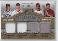 Chris Young, Hunter Pence, James Shields, Jonathan Papelbon /400