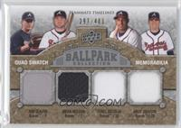 Tom Glavine, Brian McCann, Yunel Escobar, Kelly Johnson /400