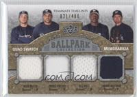 Ryan Braun, Bill Hall, Prince Fielder, Trevor Hoffman /400
