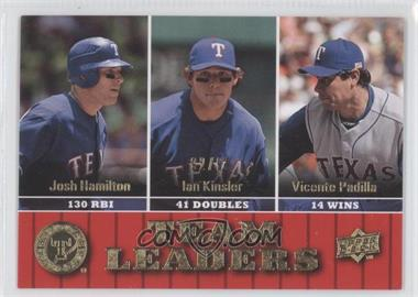 2009 Upper Deck Gold #441 - Josh Hamilton, Ian Kinsler, Vicente Padilla /99